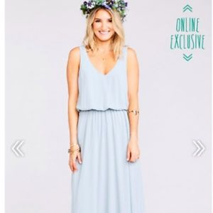 Show me your mumu Kendall maxi chiffon dress